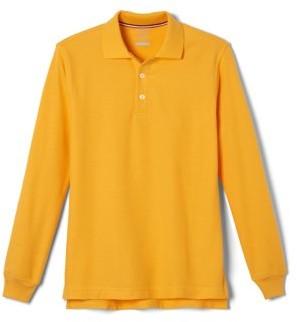 French Toast Toddler Boys School Uniform Long Sleeve Pique Polo Shirt