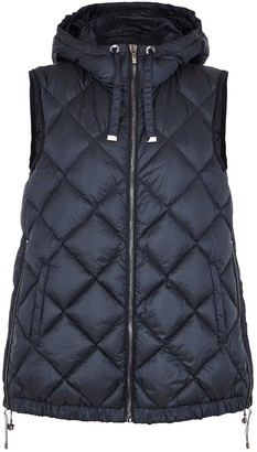 Max Mara The Cube Tregil Navy Quilted Shell Gilet