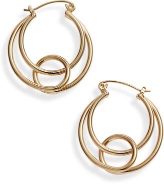 Knotty Twisted Hoops Earrings