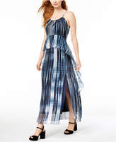 Bar III Printed Ruffled Maxi Dress, Created for Macy's