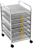 Design Ideas Digit 6 Drawer Cart, Marigold
