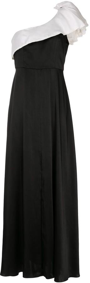 Sachin + Babi Farrah shoulder-ruffle gown
