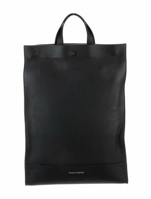 Alexander McQueen Leather Tote Backpack Black
