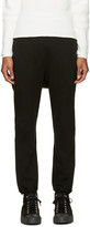 Undecorated Man Black Fleece Lounge Pants