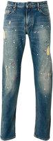 Armani Jeans distressed paint splatter jeans - men - Cotton/Spandex/Elastane - 29