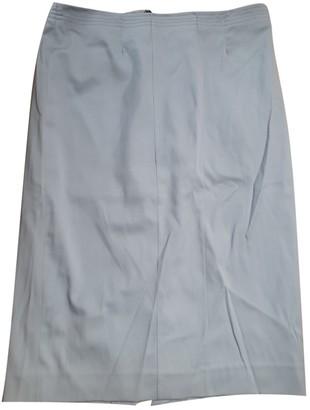 Gianfranco Ferre Blue Wool Skirt for Women