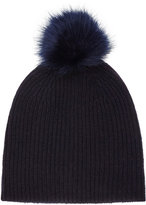 Reiss Cleo - Knitted Bobble Hat in Blue, Womens
