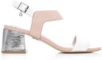 Moda In Pelle Meriah Nude - White Leather