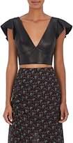 Isabel Marant Women's Glenside Leather Bralette Top