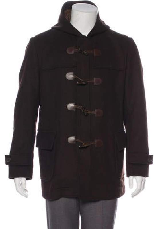 Luigi Bianchi Mantova Hooded Wool Coat wool Hooded Wool Coat