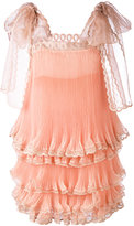 Chloé bow shoulder tiered dress - women - Silk - 34