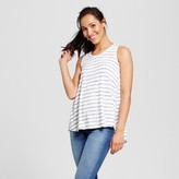 Merona Women's Striped Snit Swing Tank White/Navy Stripe