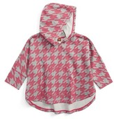 Tea Collection Toddler Girl's Houndstooth Hoodie