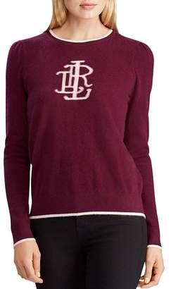 Ralph Lauren Washable Cashmere Monogram Sweater - 100% Exclusive