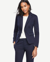 Ann Taylor Petite Cotton Sateen One Button Jacket