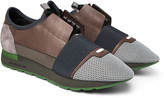 Balenciaga - Race Runner Leather, Neoprene And Mesh Sneakers