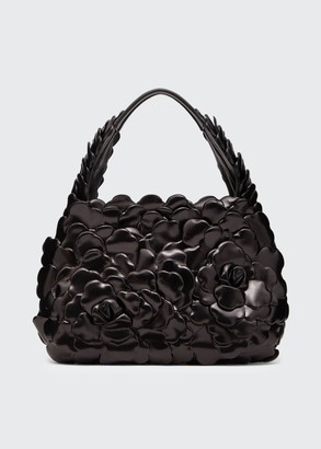 Valentino Atelier Rose 03 Edition Small Leather Hobo Bag