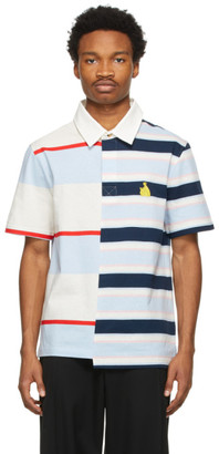Lanvin Multicolor Rugby Patchwork Polo
