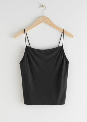 And other stories Fitted Cupro Blend Top