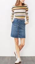 Esprit EDC - Button-fastening denim skirt
