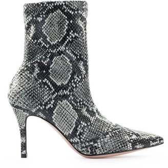 Roberto Festa Phyton Print Stretch Rame Ankle Boot