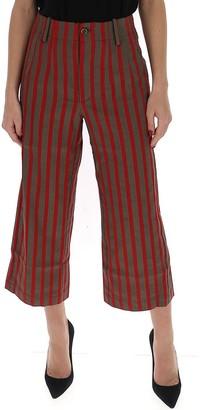 UMA WANG Stripe Cropped Trousers