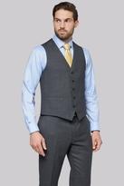 Savoy Taylors Guild Regular Fit Charcoal Birdseye Waistcoat