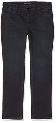 M·A·C MAC Jeans Women's Melanie New Straight Jeans, (Dark Grey Authentic Used D918)