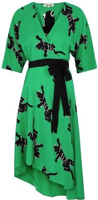 Diane von Furstenberg Eloise printed silk crepe de chine midi dress