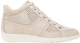 Geox Myria High Top Trainers, Light Taupe