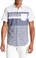 Public Opinion Place Stripe Short Sleeve Regular Fit Shirt