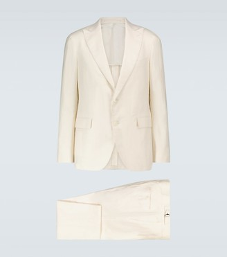 Lardini Sartoria silk-blend regular-fit suit
