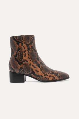 Rag & Bone Aslen Snake-effect Leather Ankle Boots - Snake print