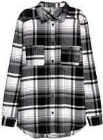 H&M Plaid Flannel Shirt - Beige/checked - Ladies