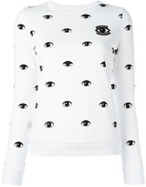 Kenzo eye print sweatshirt - women - Cotton - S