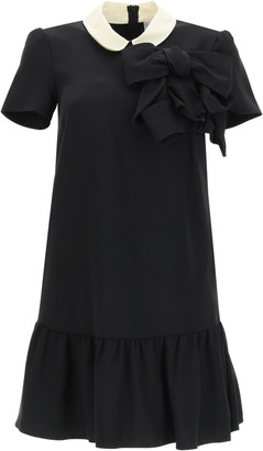 RED Valentino MINI DRESS WITH BOWS 38 Black