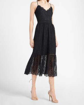 Express Tiered Lace Midi Dress