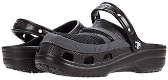 Crocs Classic Venture Pack Clog (Black/Slate Grey) Shoes