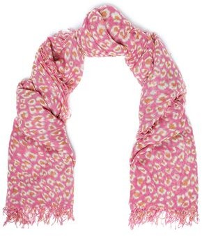 Chan Luu Frayed Leopard-print Cashmere And Silk-blend Gauze Scarf