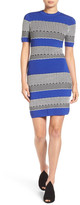 KENDALL + KYLIE Kendall & Kylie Graphic Stripe Body-Con Dress
