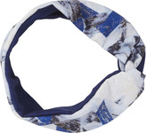 Scunci Headbands of Hope Multi Blue Colored Headwrap with Silver