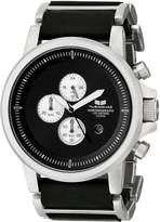Vestal Men's PLE036 Plexi Silver with Leather Watch