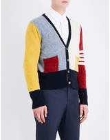 Thom Browne Funmix Wool And Mohair-blend Cardigan