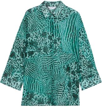 Max Mara Prati Printed Cotton And Silk-blend Shirt