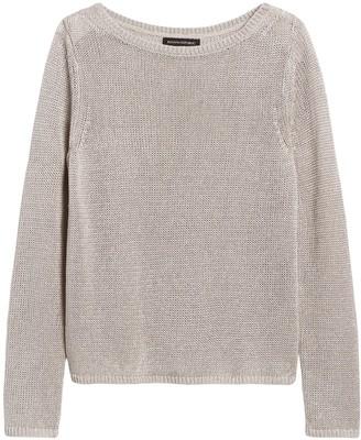 Banana Republic Petite Linen-Blend Boat-Neck Sweater