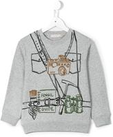 Stella McCartney explorer print Biz sweatshirt - kids - Cotton - 2 yrs