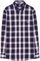 Gant Boys Pin Dotted Plaid Check Shirt 3-15 Yrs