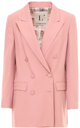 L'Autre Chose Double-Breasted Buttoned Blazer