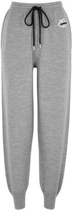 Markus Lupfer Mia Grey Embellished Merino Wool Sweatpants