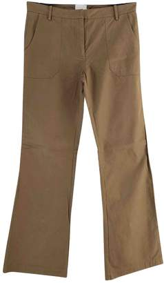 Laurence Dolige Camel Cotton Trousers for Women